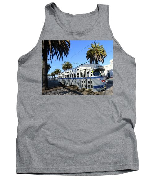 Tank Top featuring the photograph Trolley Number 1070 by Steven Spak