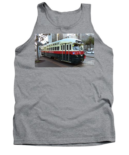 Tank Top featuring the photograph Trolley Number 1077 by Steven Spak