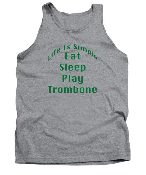 Trombone Eat Sleep Play Trombone 5517.02 Tank Top by M K  Miller