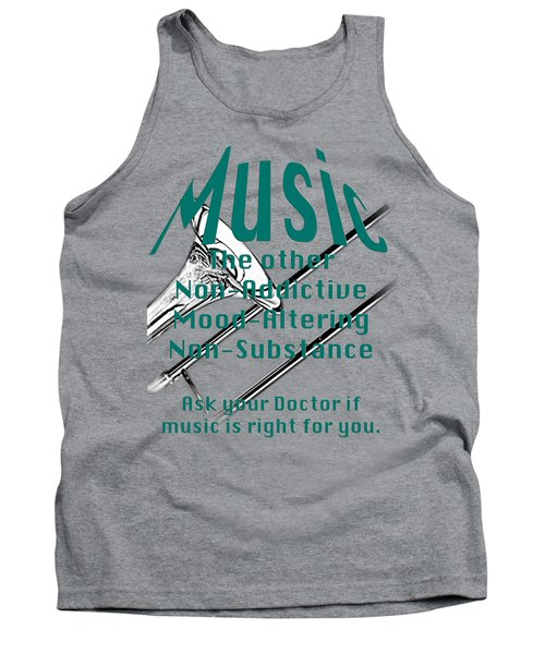 Trombone Music Is Right For You 5495.02 Tank Top by M K  Miller