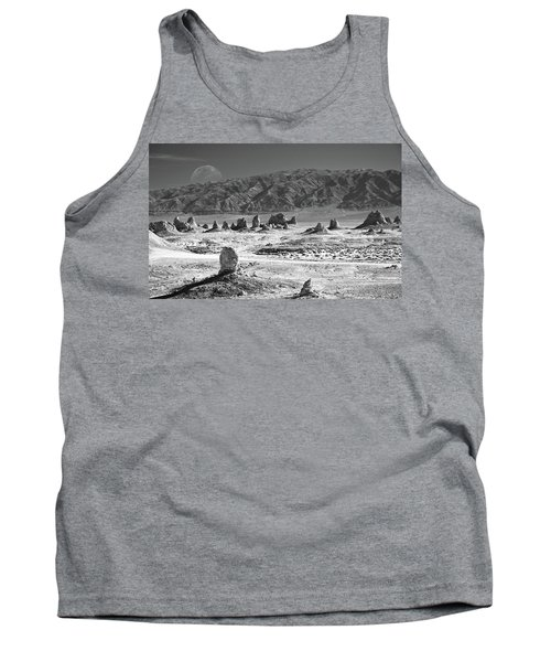 Trona Pinnacles With The Moon Tank Top