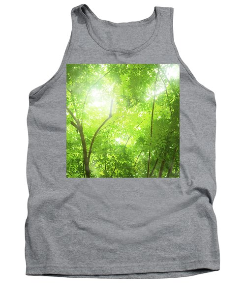 Tropical Forest Tank Top by Atiketta Sangasaeng