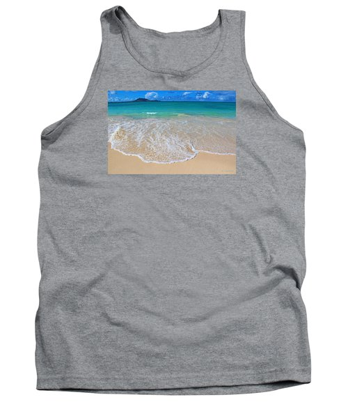 Tropical Hawaiian Shore Tank Top by Kerri Ligatich
