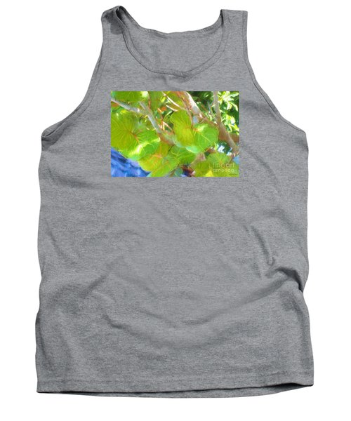 Tropical Leaves Tank Top by Linda Olsen