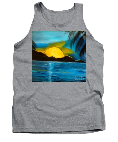 Tropical Moonshine Tank Top by Jenny Lee