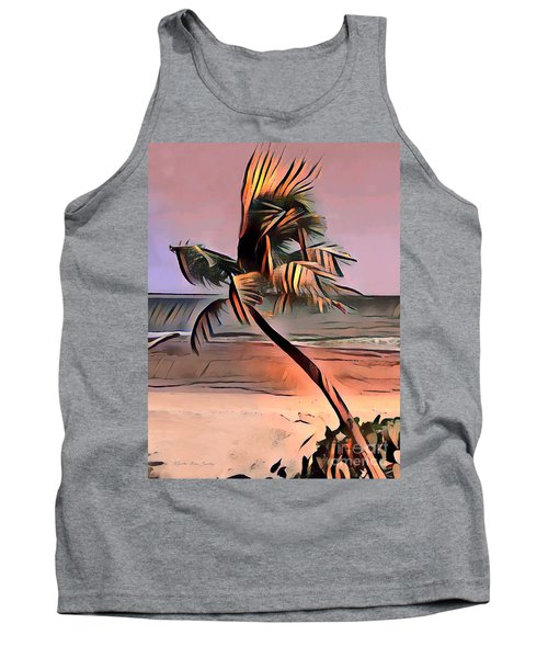 Tropical Seascape Digital Art E7717l Tank Top