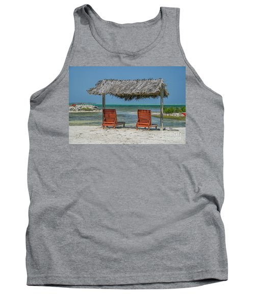 Tropical Vacation Tank Top by Patricia Hofmeester