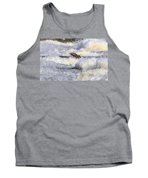 Tank Top featuring the digital art Trout by Robert Pearson