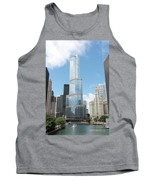 Trump Tower Overlooking The Chicago River Tank Top