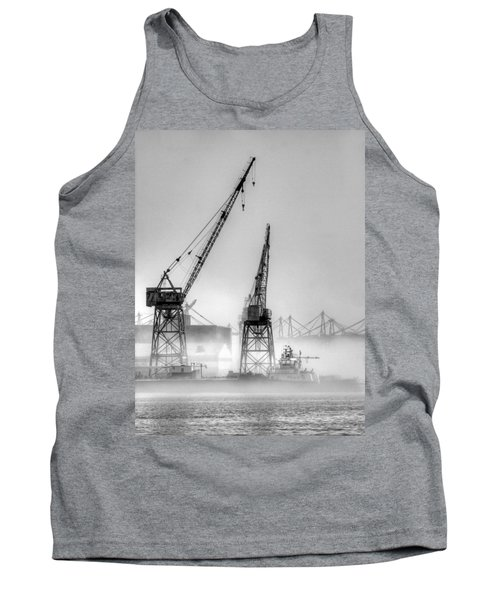 Tug With Cranes Tank Top