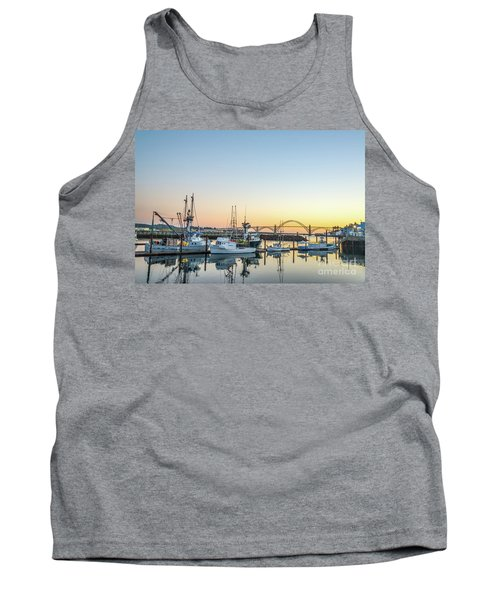 Tuna Boats Resting For The Night Tank Top