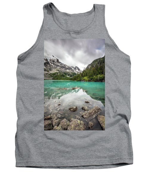 Turquoise Lake In The Mountains Tank Top