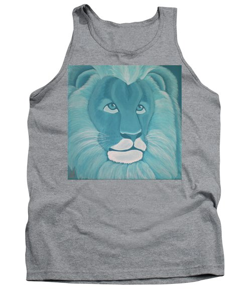 Turquoise Lion Tank Top