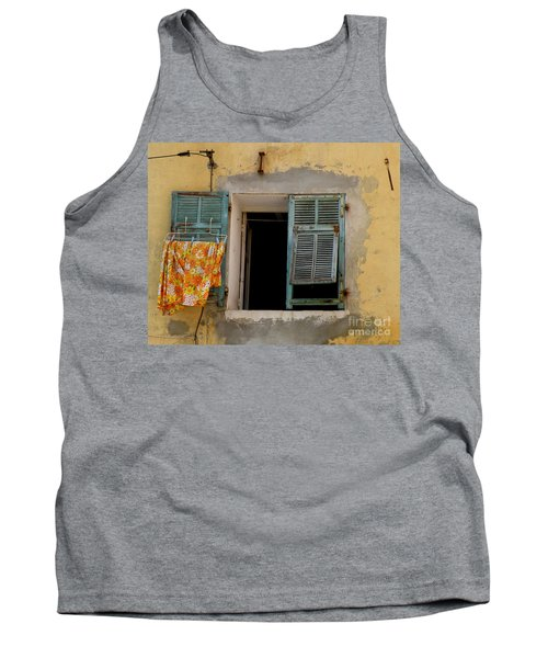 Turquoise Shuttered Window Tank Top by Lainie Wrightson