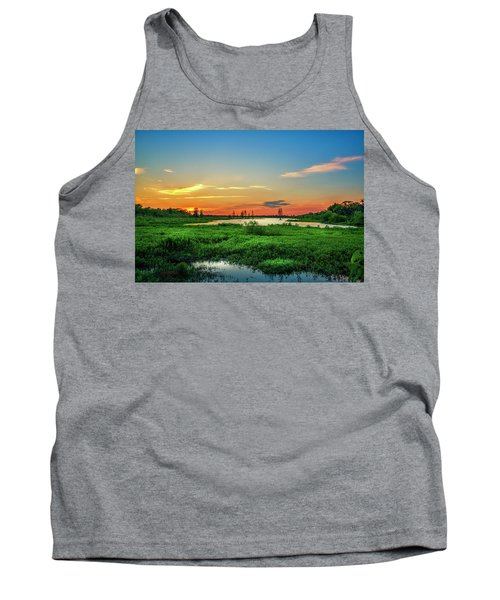 Tank Top featuring the photograph Twilights Arrival by Marvin Spates