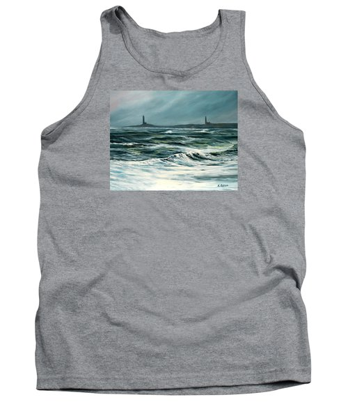 Twin Lights Rockport Ma Tank Top by Eileen Patten Oliver