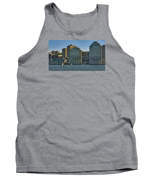 Twin Purdy Towers Of Halifax Tank Top by Ken Morris