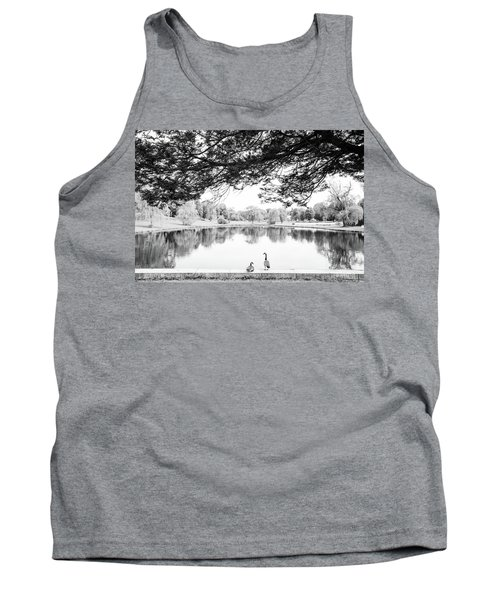 Tank Top featuring the photograph Two At The Pond by Karol Livote