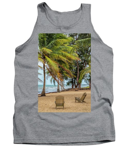 Two Chairs In Belize Tank Top