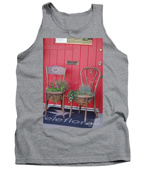 Two Chairs With Plants Tank Top