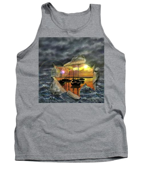 Tank Top featuring the digital art Two Climates by Darren Cannell