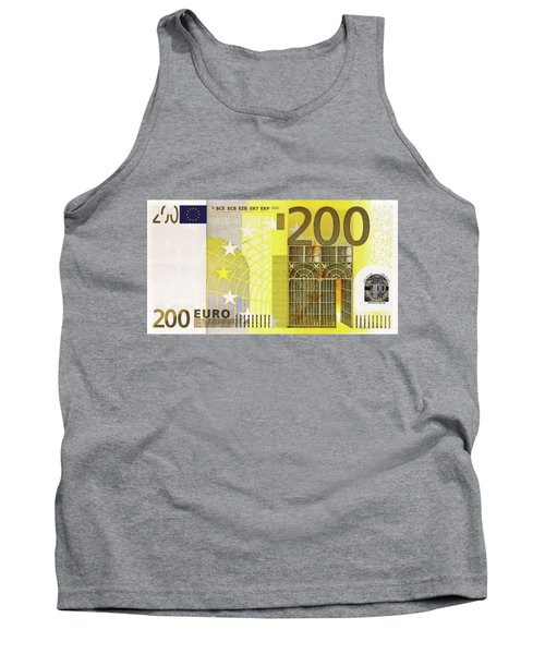 Two Hundred Euro Bill Tank Top