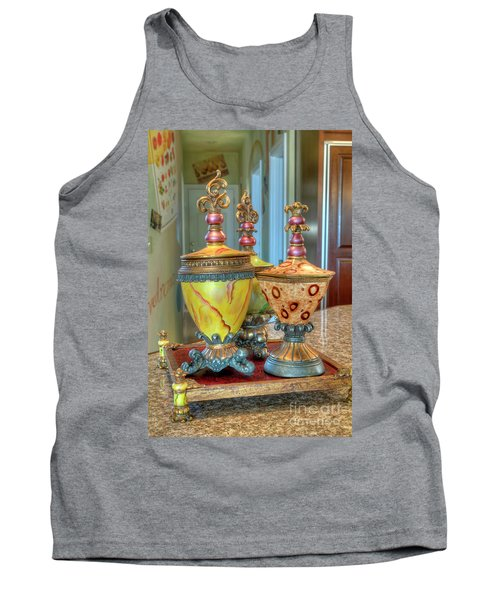 Two Ornate Colorful Vases Or Urns Art Prints Tank Top