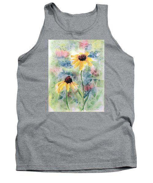 Two Sunflowers Tank Top