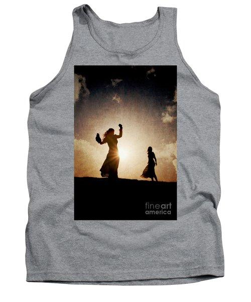Two Women Dancing At Sunset Tank Top