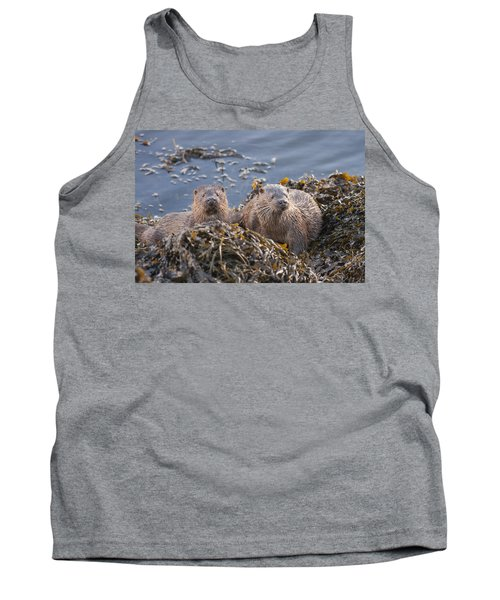 Two Young European Otters Tank Top