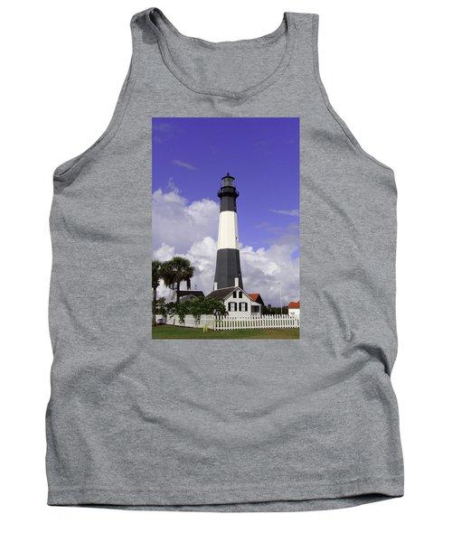 Tybee Island Lighthouse Tank Top by Elizabeth Eldridge
