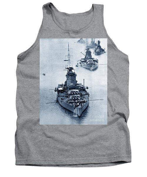 Hms Nelson And Hms Rodney Battleships And Battlecruisers Hms Hood Circa 1941 Tank Top