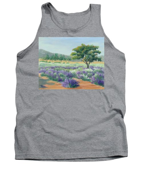 Under Blue Skies In Lavender Fields Tank Top