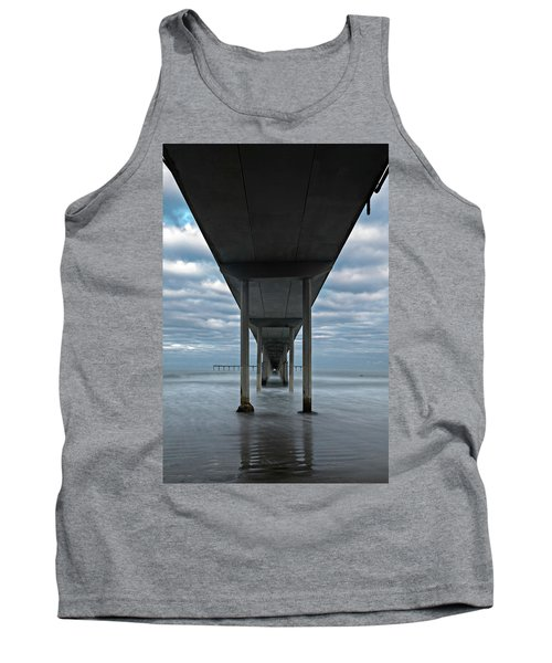 Under The Ocean Beach Pier San Diego Early Morning Tank Top