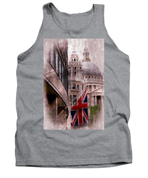 Union Jack By St. Paul's Cathdedral Tank Top by Karen McKenzie McAdoo