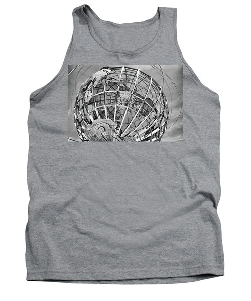 Unisphere In Black And White Tank Top
