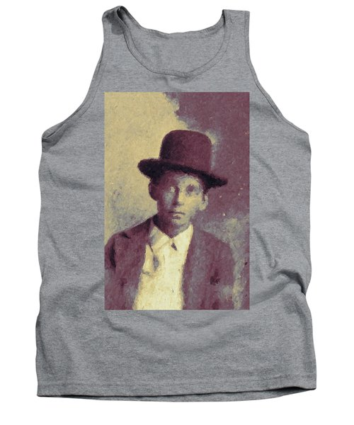 Unknown Boy In A Bowler Hat Tank Top