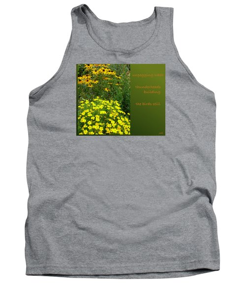 Tank Top featuring the digital art Unpegging Wash Haiga by Judi and Don Hall