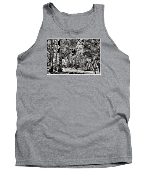 Tank Top featuring the digital art Up Among The Aspens by William Fields