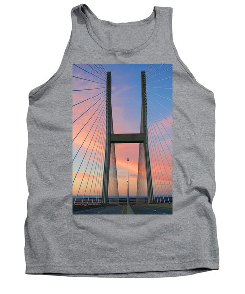 Up On The Bridge Tank Top by Kathryn Meyer