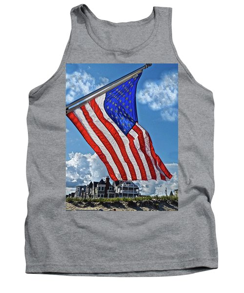 Us Flag,ocean Grove,nj Flag Tank Top