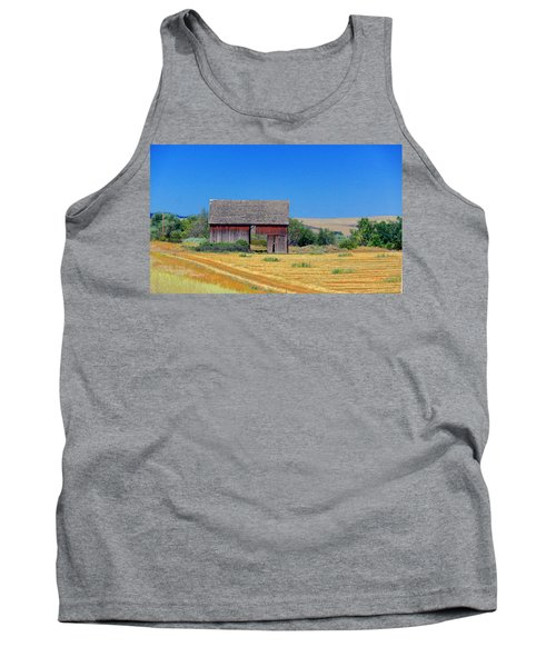 Used To Be Red Barn Tank Top by Susan Crossman Buscho