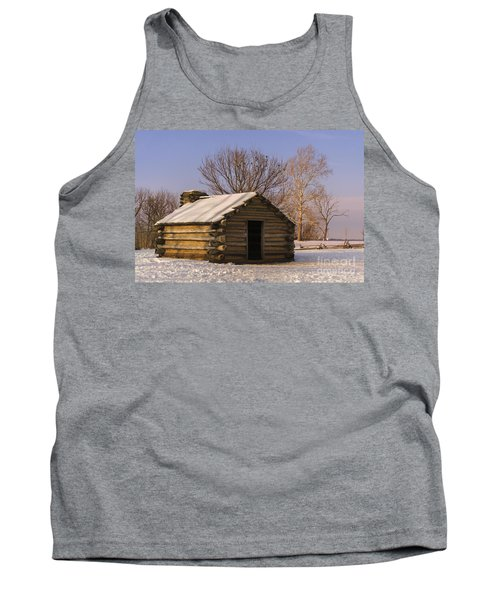 Valley Forge Cabin At Sunset Tank Top