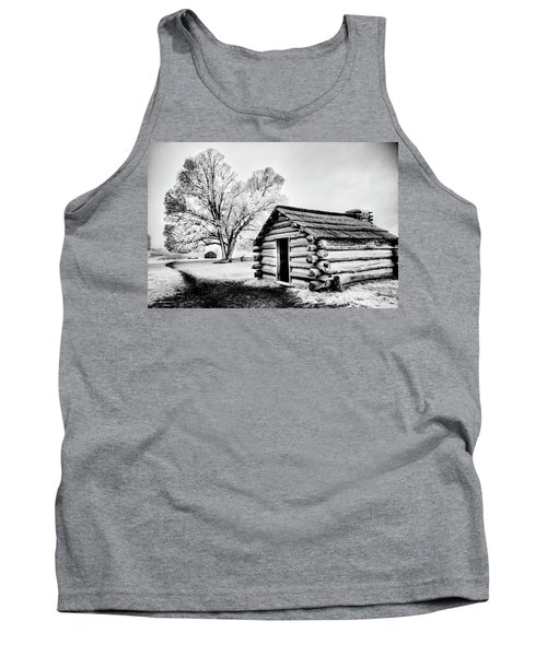 Tank Top featuring the photograph Valley Forge Winter Troops Hut                           by Paul W Faust - Impressions of Light