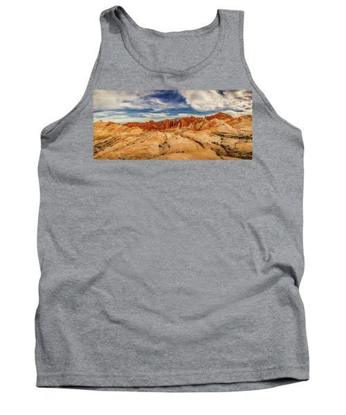Tank Top featuring the photograph Valley Of Fire Panorama by Rikk Flohr
