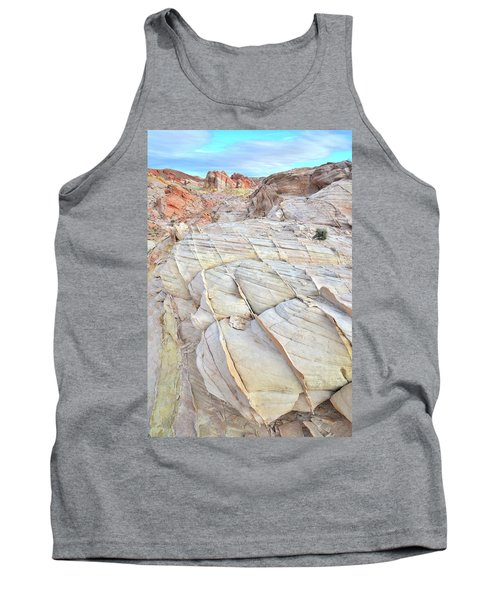 Valley Of Fire Sandstone Tank Top by Ray Mathis