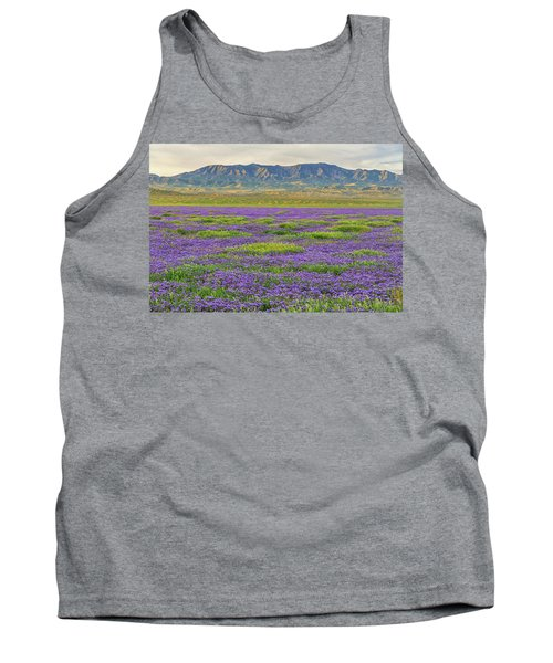 Valley Phacelia And Caliente Range Tank Top by Marc Crumpler