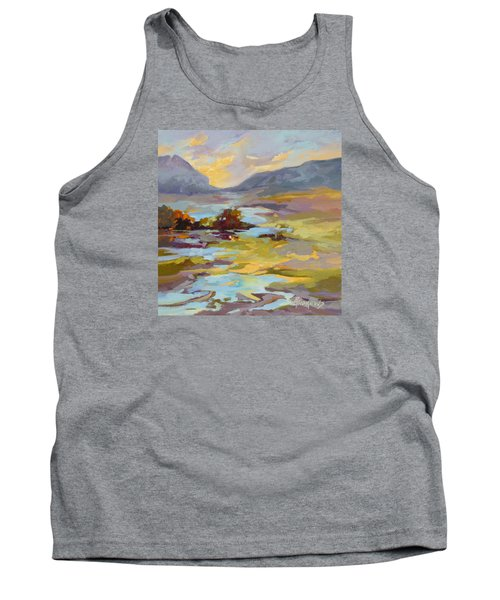 Tank Top featuring the painting Valley Vantage Point by Rae Andrews