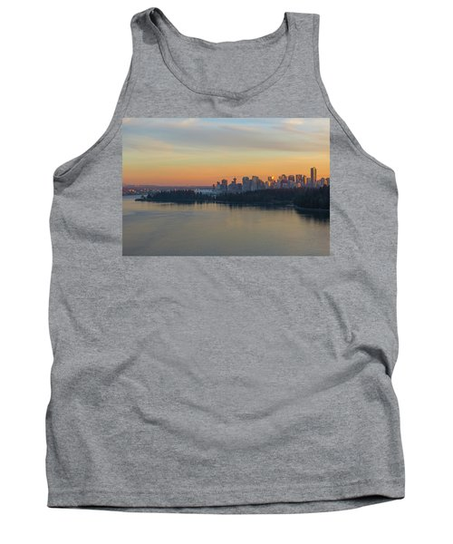 Vancouver Bc Skyline And Stanley Park At Sunset Tank Top