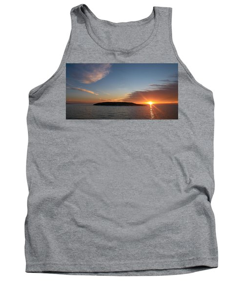 Tank Top featuring the photograph Variations Of Sunsets At Gulf Of Bothnia 3 by Jouko Lehto